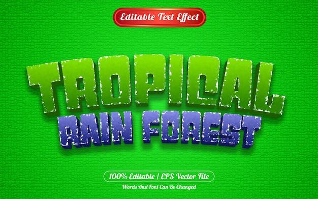 Edytowalny styl szablonu tropikalnego lasu deszczowego