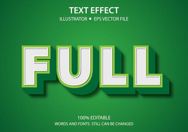 Edytowalny styl tekstu efekt nowoczesny pełny