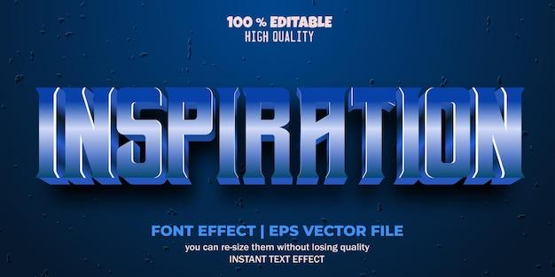 Edytowalny styl tekstu inspiracji efektu czcionki