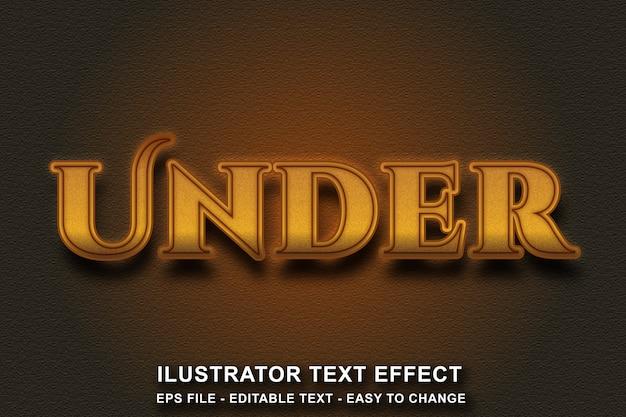 Edytowalny styl tekstu z efektem złotego koloru