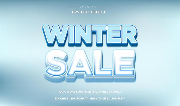 Edytowalny styl zimowej wyprzedaży z efektem tekstowym