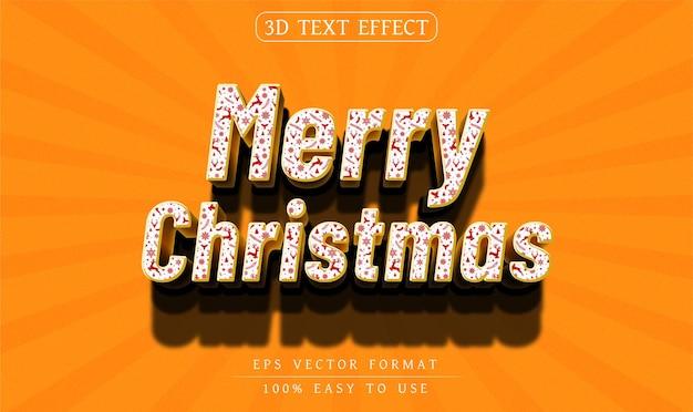 Edytowalny świąteczny efekt tekstowy 3d