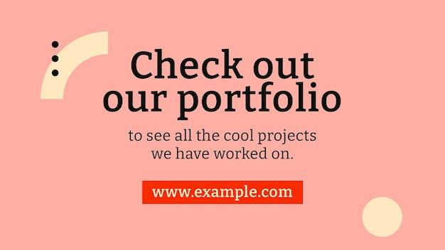 Edytowalny szablon banera bloga inspirowany bauhaus płaska konstrukcja