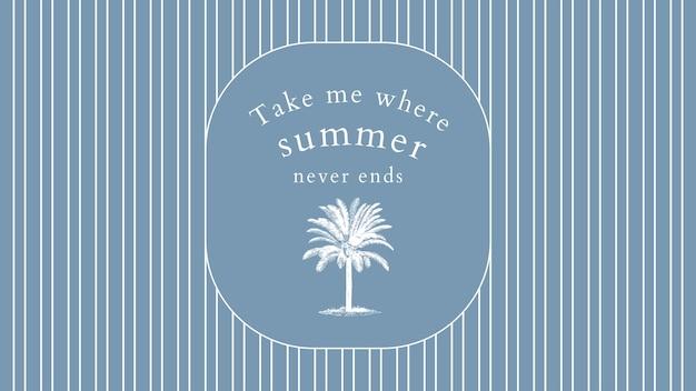 Edytowalny szablon banera letniego w odcieniu niebieskim