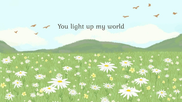 Edytowalny szablon cytatu z tobą rozświetli mój światowy tekst