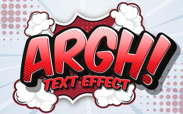 Edytowalny szablon efektu stylu komiksu z efektem tekstowym