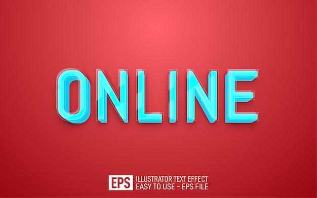 Edytowalny szablon efektu stylu online 3d .