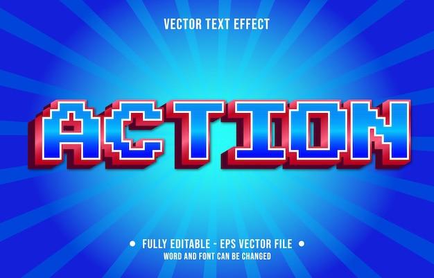 Edytowalny szablon efektu tekstowego gra retro akcja w stylu gradientu koloru premium