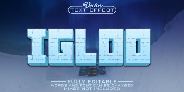Edytowalny szablon efektu tekstowego igloo