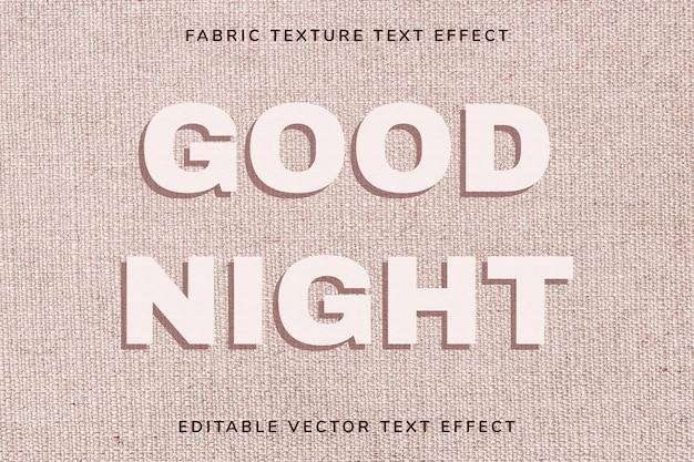 Edytowalny szablon efektu tekstowego różowa tekstura tkaniny
