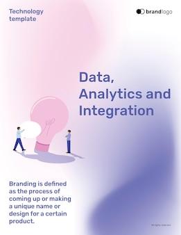 Edytowalny szablon integracji technologii