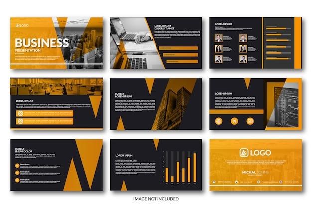 Edytowalny szablon prezentacji biznesowej powerpoint