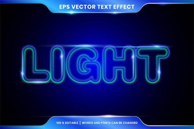 Edytowalny szablon projektu ciemnego świecącego stylu czcionki