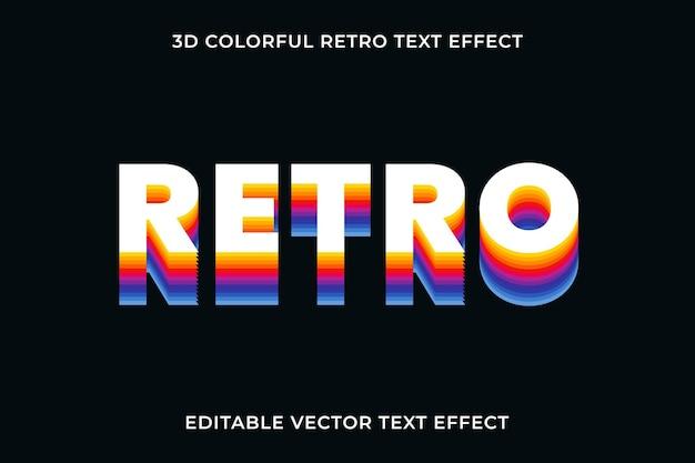 Edytowalny szablon wektora efektu tekstu retro
