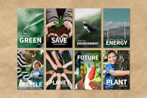 Edytowalny szablon wektorów środowiska