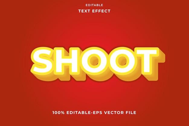 Edytowalny tekst efekt nowoczesny styl strzelania
