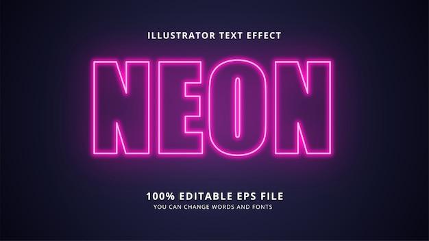 Edytowalny tekst neon