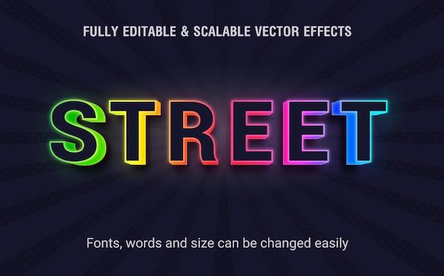 Edytowalny wektor efektów tekstowych na ulicy