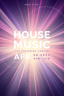 Edytowalny wektor szablonu banera dla postu koncertowego na żywo