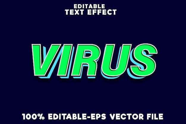 Edytowalny wirus efektów tekstowych z prostym nowoczesnym stylem