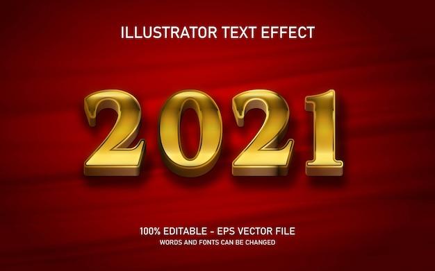 Edytowalny złoty efekt tekstu