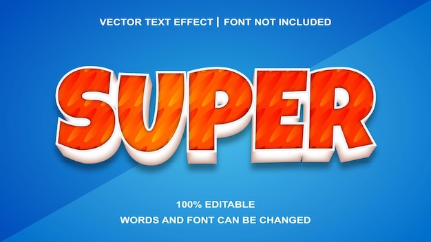 Edytowany efekt tekstu w stylu super tekstu