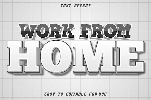 Edytowany tekst efekt praca z domu