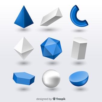 Efekt 3d geometrycznych kształtów