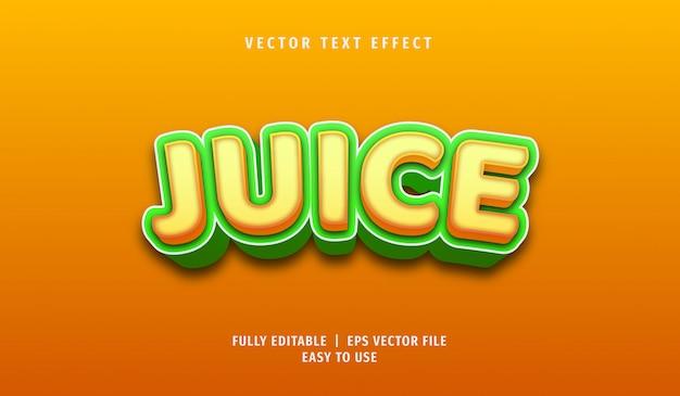Efekt 3d juice text, edytowalny styl tekstu