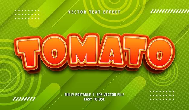 Efekt 3d tomato text, edytowalny styl tekstu