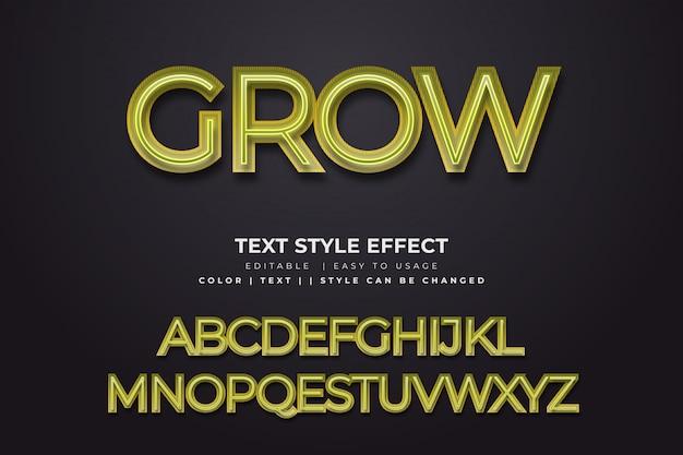 Efekt 3d zielony neon stylu tekstu