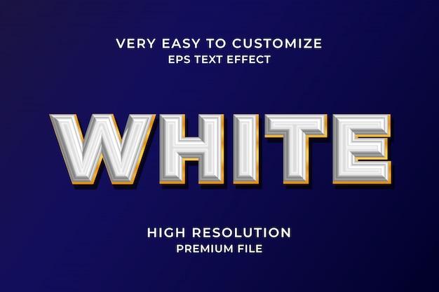 Efekt białego tekstu 3d