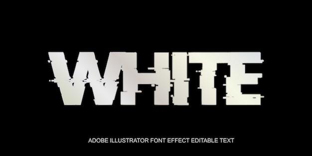 Efekt białego tekstu