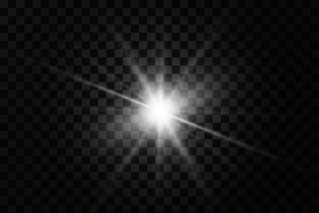 Efekt blasku gwiazda błyszczy