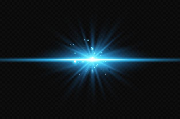 Efekt blasku niebieskie świecące cząstki gwiazdy lasery ilustracja wektorowa