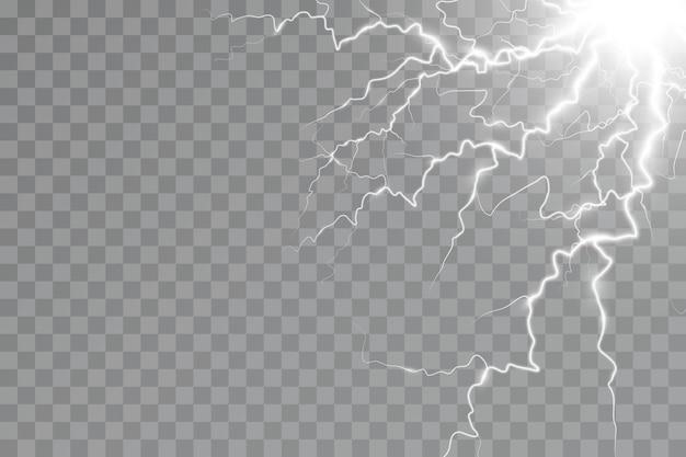 Efekt błyskawicy efekt świetlny burzy elektryczność