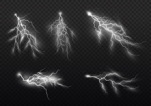 Efekt błyskawicy i oświetlenia, burzy i błyskawic.