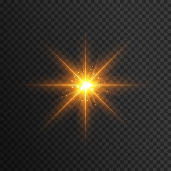 Efekt błysku żółtego światła