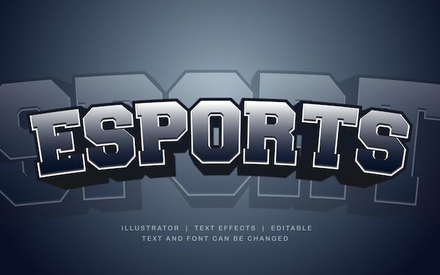Efekt ciemnego tekstu e-sport