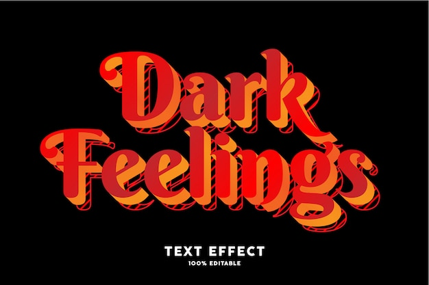 Efekt ciemnej nowoczesnej czcionki pop-artu