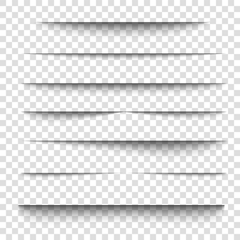 Efekt cienia arkusza papieru d kształt krawędzi linii