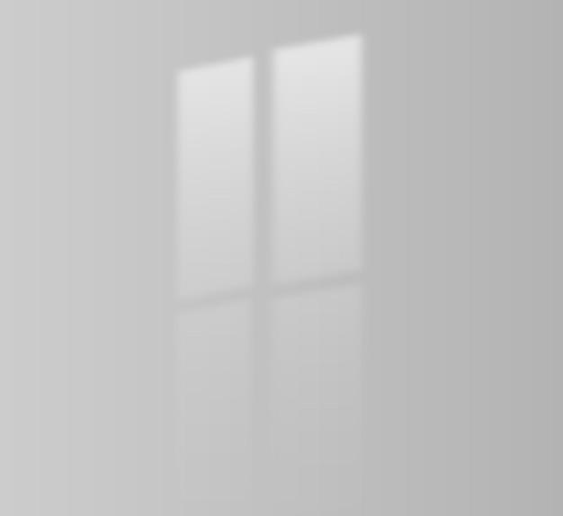 Efekt cienia okna w jasnym pomieszczeniu