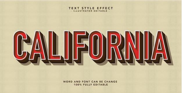 Efekt czcionki california