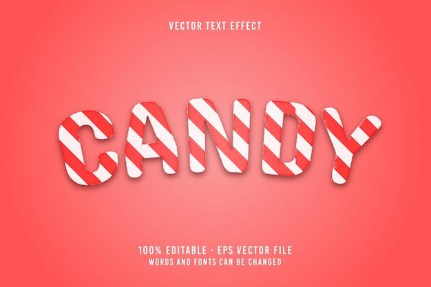 Efekt czcionki edytowalnego tekstu cukierków