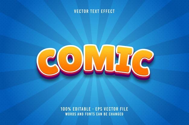 Efekt czcionki edytowalnego tekstu komiksowego