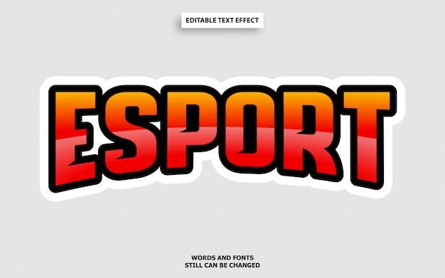 Efekt czcionki edytowalnej w stylu tekstowym esports