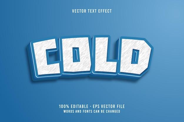 Efekt czcionki edytowalnej zimnego tekstu