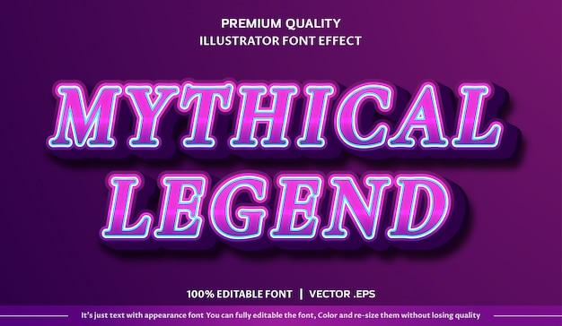 Efekt czcionki mitycznej legendy
