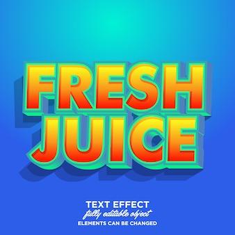Efekt czcionki naklejki świeży sok