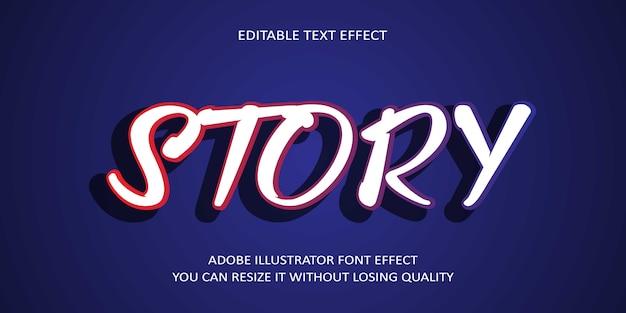Efekt czcionki opowieści twórz z efektami specjalnymi
